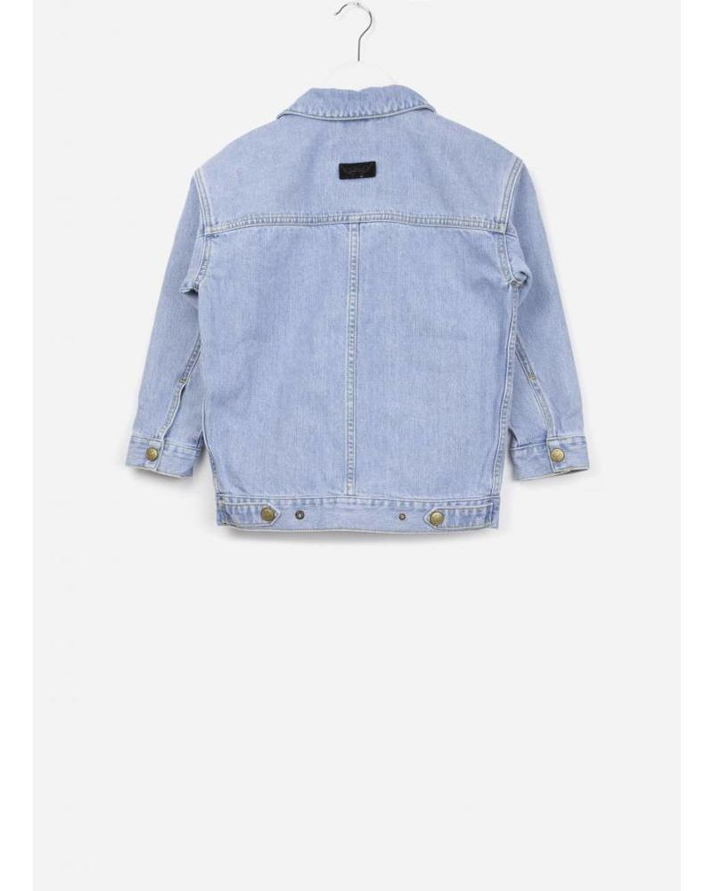 Finger in the nose ROAD oversized jacket bleached blue