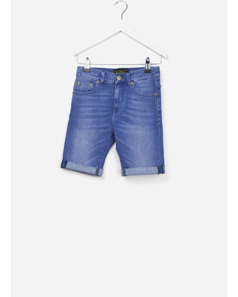Finger in the nose Edmond comfort fit shorts mid blue