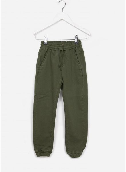 Finger in the nose Longbeach woven jogging pants khaki