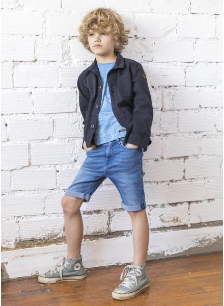 Finger in the nose Edmond shorts mid blue