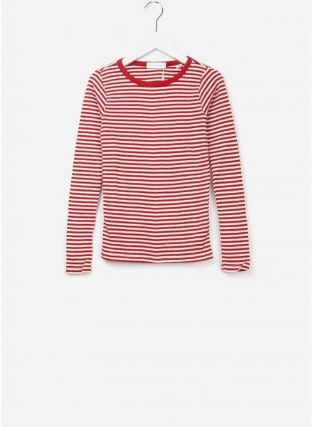 Les Coyotes De Paris Romie shirt off white / red stripe