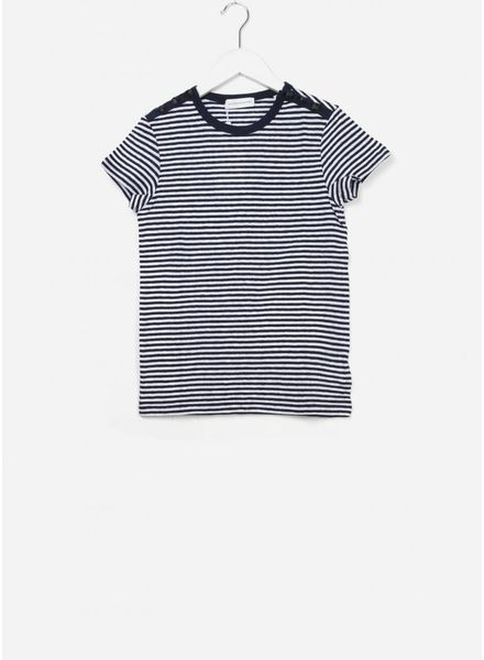 Les Coyotes De Paris Clea shirt off white / navy stripe