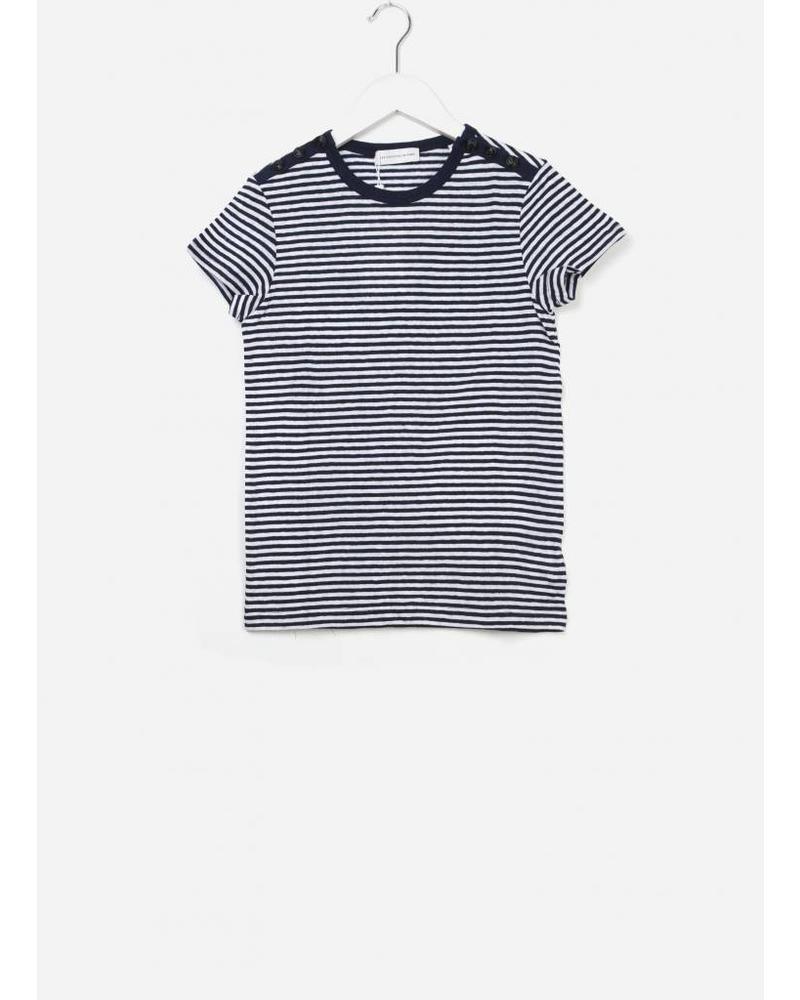 Les Coyotes De Paris Clea shirt off white / navy stripe