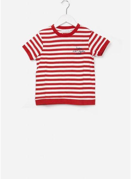 Les Coyotes De Paris Claudia shirt white / red stripe