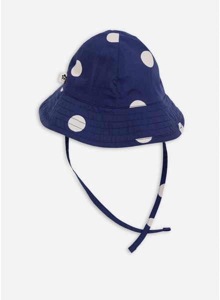 Mini Rodini Dot sun hat navy