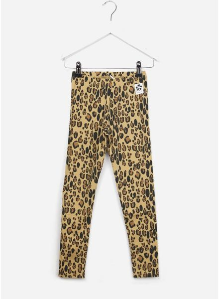 Mini Rodini Basic leopard leggings beige