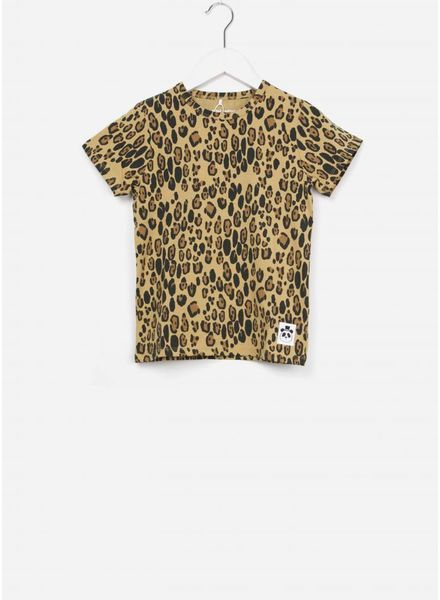 Mini Rodini Basic leopard tee beige