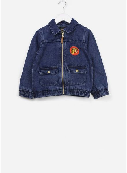 Mini Rodini Denim tiger jacket vintage wash