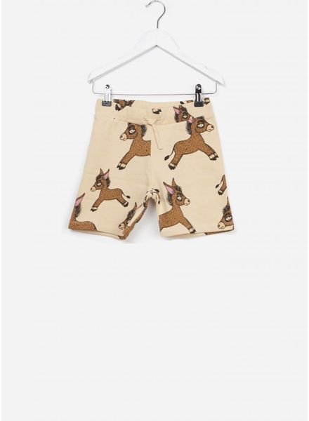 Mini Rodini Donkey sweat shorts beige