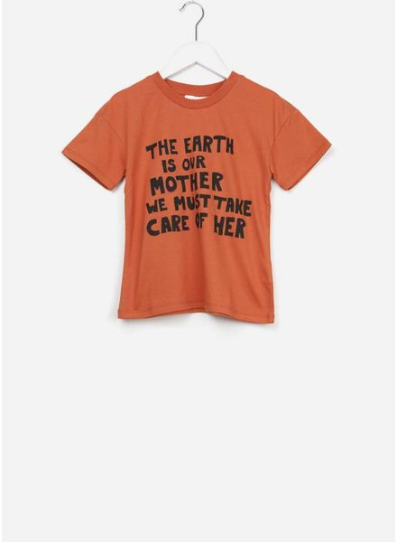 Mini Rodini Mother earth tee orange