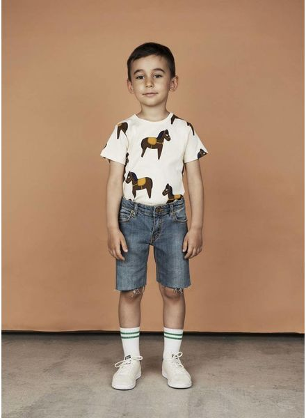 Mini Rodini Horse tee yellow