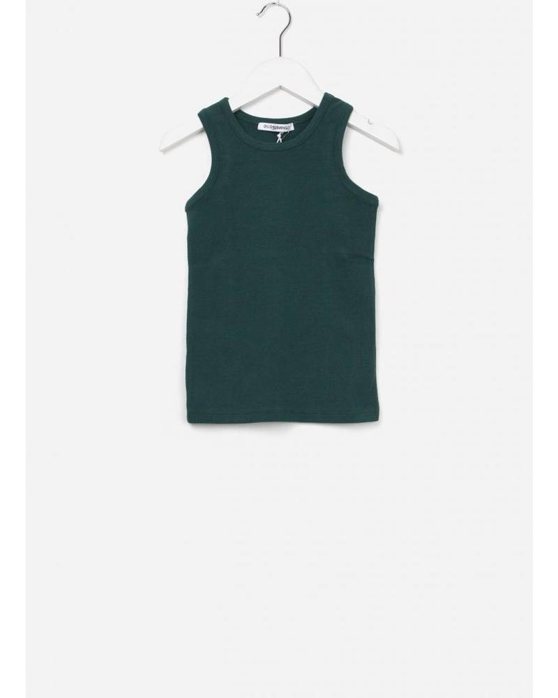 Mingo singlet rain forest green rib jersey