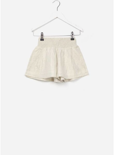 Finger in the nose Rika loose fit shorts gold metal stripes