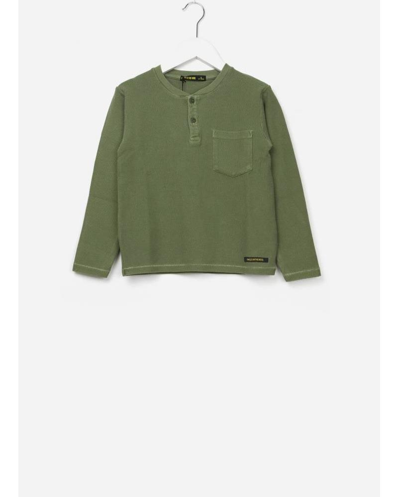 Finger in the nose Randy Khaki LS shirt