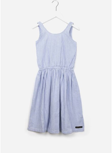 Finger in the nose Willow long dress blue stripes