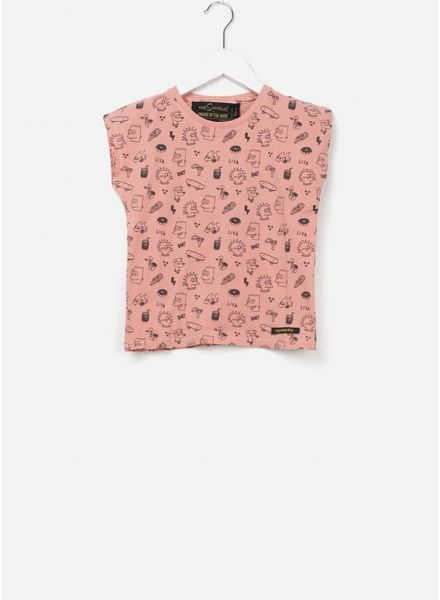 Finger in the nose Marsh t-shirt milky pink