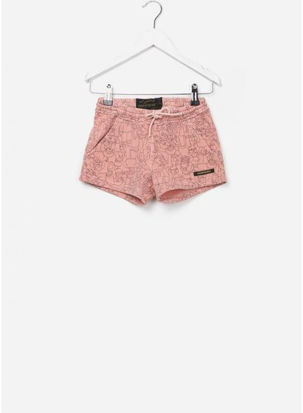 Finger in the nose Trinity mini shorts milky pink