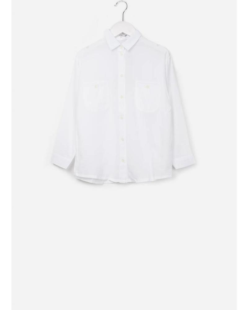 Morley Elroy moon white girlsshirt