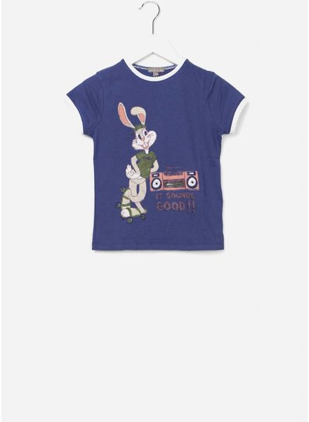 Emile et Ida T-shirt outremer bun