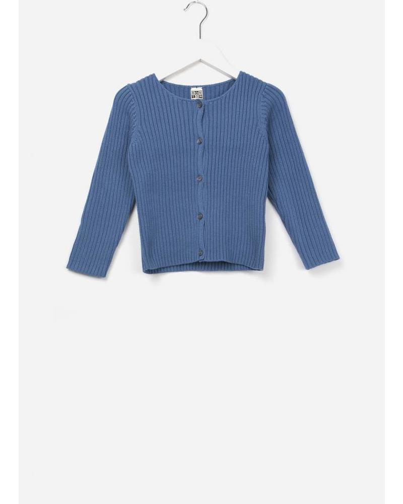 Bonton cardigan acotes bleu auguste