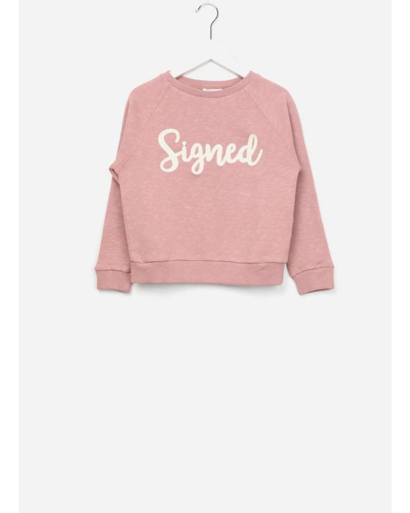 By Bar Bonne signed sweater ash rose