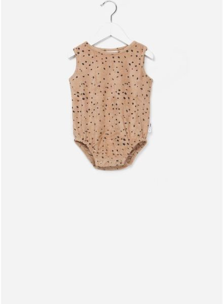 Maed for mini bodysuit sleeveless pink leopard