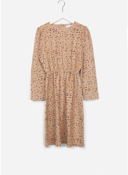 Maed for mini dress pink leopard