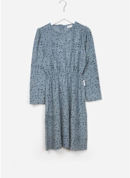 Maed for mini dress blue leopard