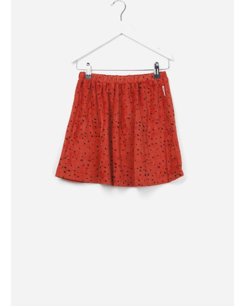 Maed for mini skirt red leopard