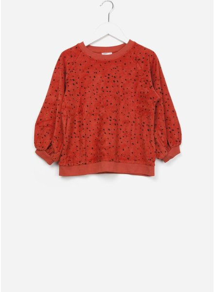 Maed for mini sweater red leopard