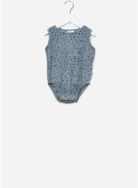 Maed for mini body sleeveless blue leopard