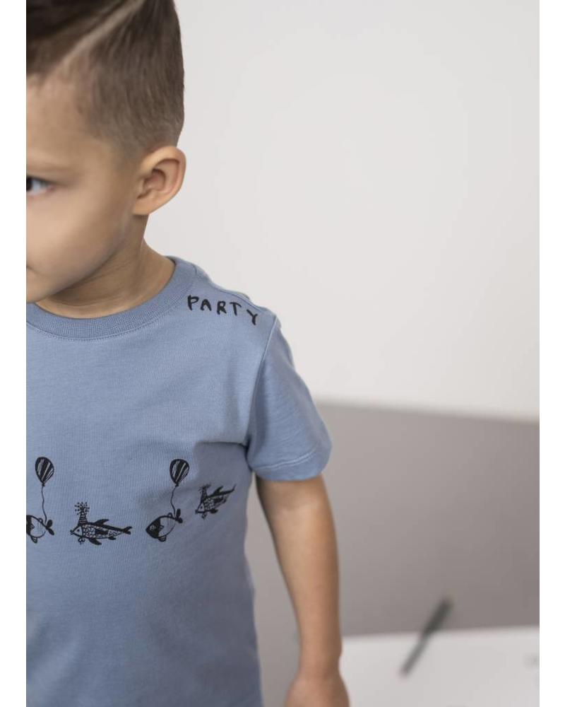 One We Like X Pomme de Jus fish party t-shirt faded denim