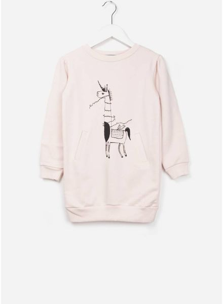 One We Like X Pomme de Jus unicorn sweater jurk soft pink