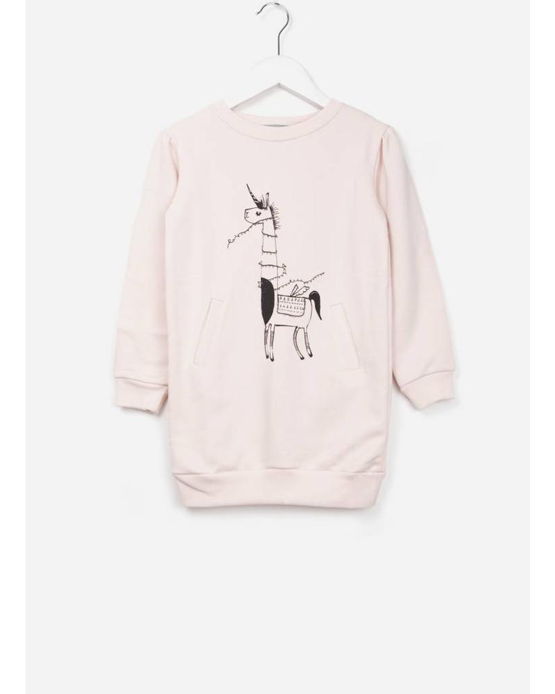 One We Like X Pomme de Jus unicorn sweater jurk soft pink