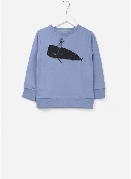One We Like X Pomme de Jus whale trui faded denim