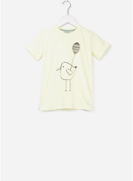One We Like X Pomme de Jus balloon bird t-shirt yellow
