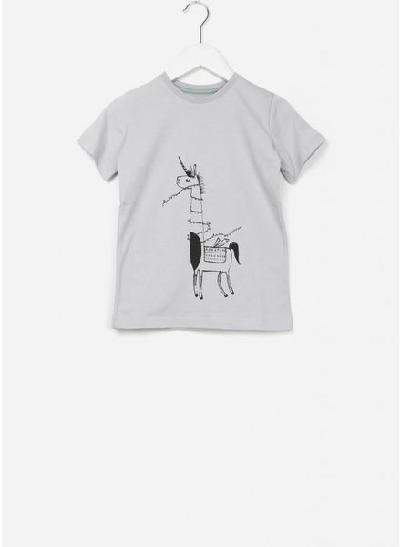 One We Like X Pomme de Jus unicorn t-shirt vapour grey
