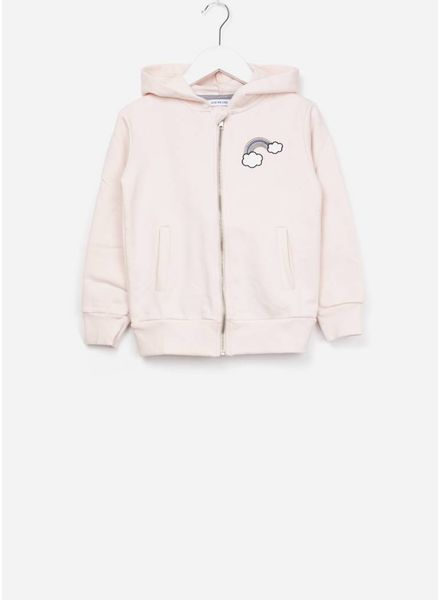One we Like Hoodie rainbow embr soft pink
