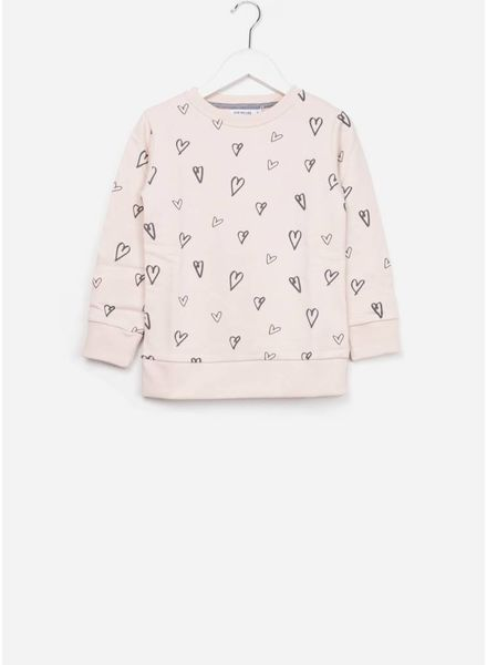 One we Like Basic hearts aop soft pink