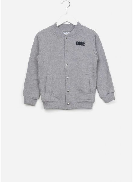 One we Like Baseball jacket one grey melange