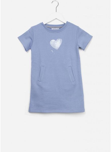 One we Like Basic dress heart faded denim