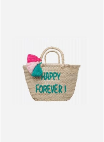 "Rose in April basket ""happy forever"""