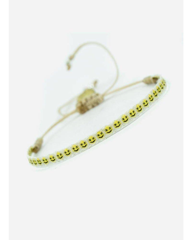 Guanabana Armband smiley wit