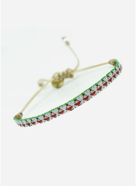 Guanabana Armband rood wit groen