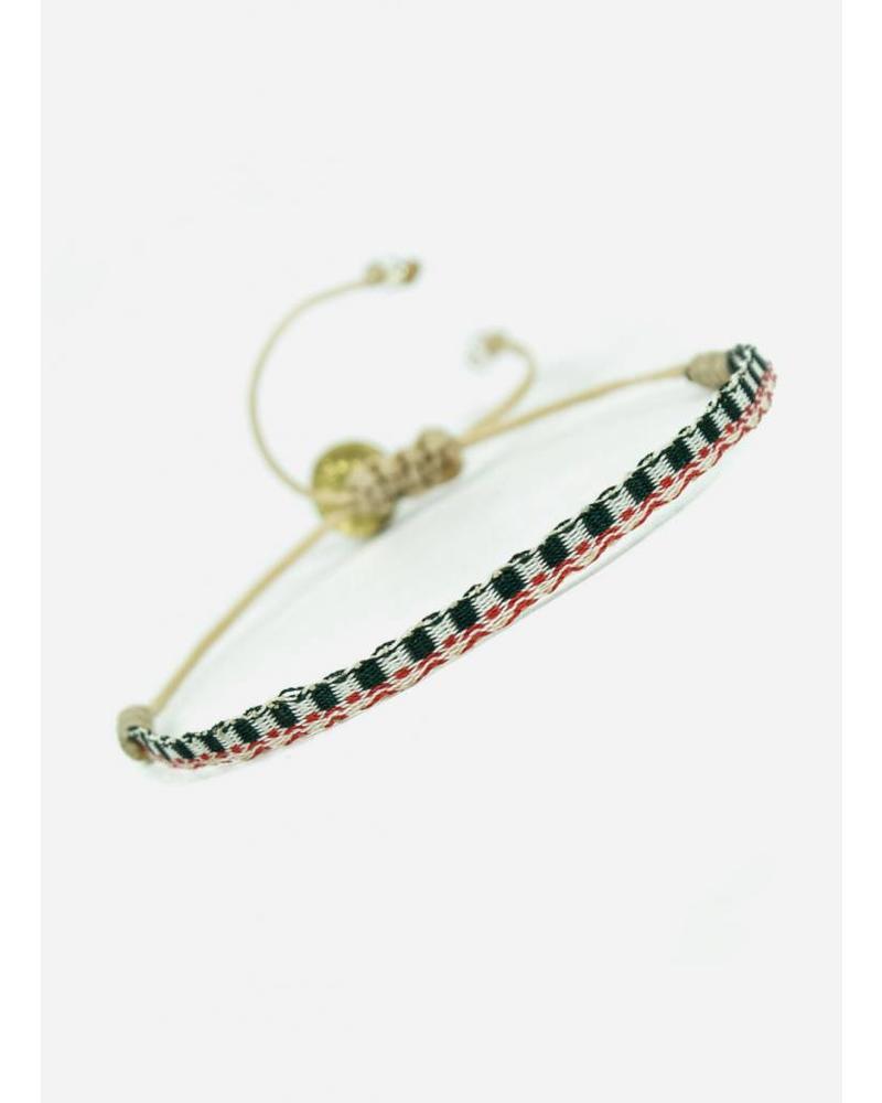 Guanabana Armband rood wit zwart