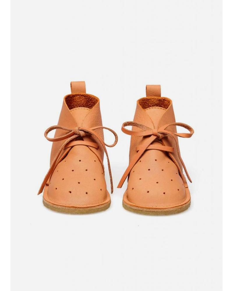 Birds of Nature dots bootie peach