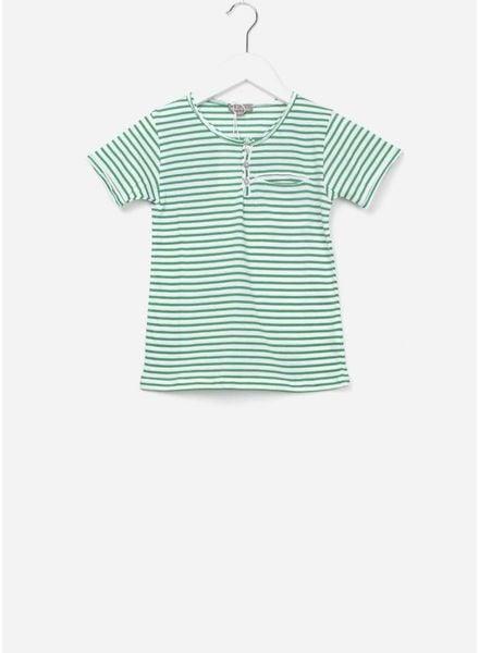 Emile et Ida T-shirt vert blanc
