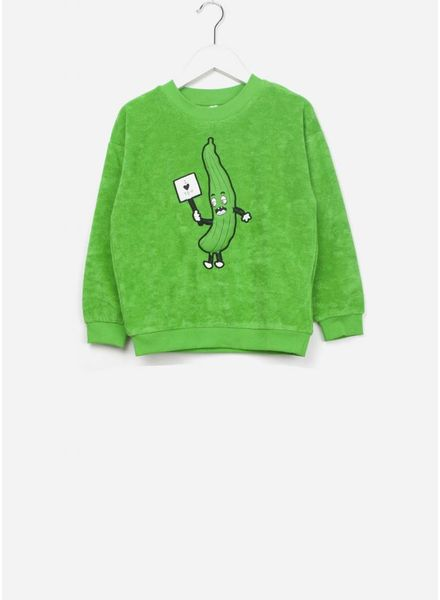 Mini Rodini Cucumber SP terry sweatshirt green