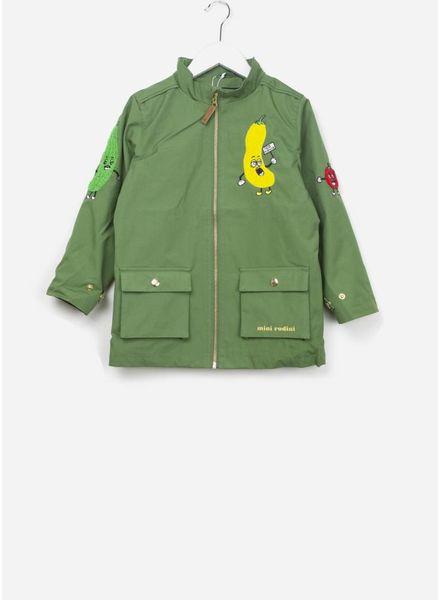 Mini Rodini Veggie patch jacket Green