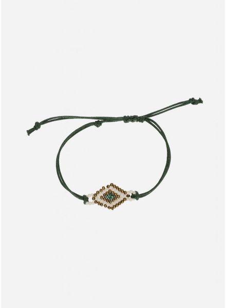 By Bar Yara bracelet dark green